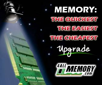 Memory :  the cheapest, easiest, quickest upgrade - 4allmemory.com